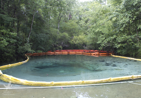More than 10 tons of excess sediment has already been removed at Williford Spring along Econfina Creek. Lori Ceier/Walton Outdoors