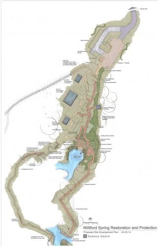 Williford spring planned restoration. Image courtesy Northwest Florida Water Management District