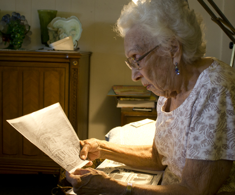 Ina Mae Garrett recalls living in the historic Freeport home. Lori Ceier/Walton Outdoors