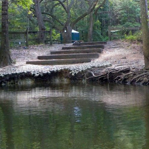 The Holmes Creek Springs Complex Restoration project will stabilize the streambank and provide stormwater treatment and appropriate riparian access at Cotton Landing.  Lori Ceier/Walton Outdoors