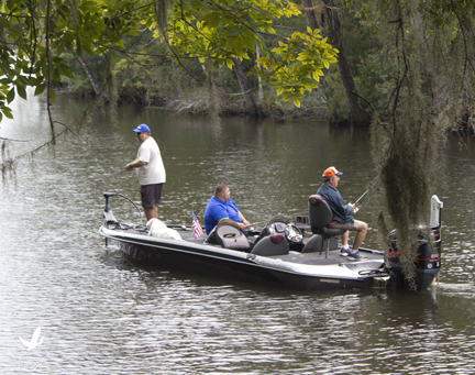 Wounded warriors enjoy a day of fishing along Black Creek. Lori Ceier/Walton Outdoors