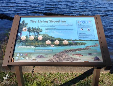 Several interpretive signs dot the shoreline at Eden Gardens State Park. Lori Ceier/Walton Outdoors