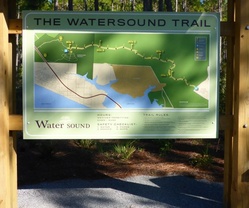 Map at the Origins trailhead. Lori Ceier/Walton Outdoors