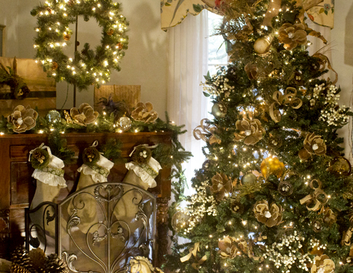Each room of the Wesley house is elaborately decorated for the holidays. Lori Ceier/Walton Outdoors