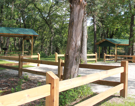 Double pavilion area near boat ramp ad Dead River Landing park. Lori Ceier/Walton Outdoors