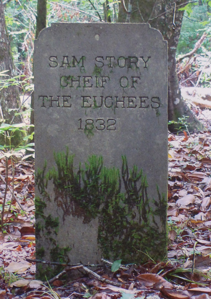 Tombstone of Sam Story near the Choctawhatchee River. Photo courtesy Muskogee Nation of Florida