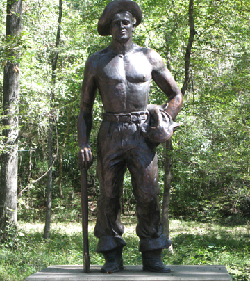 A bronze statue commemorates CCC workers at Florida Caverns State Park. Lori Ceier/Walton Outdoors