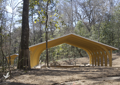 There are three new pavilions being installed at Williford Spring. Lori Ceier/Walton Outdoors