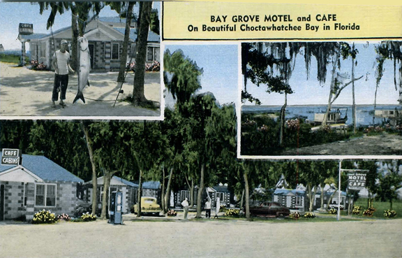 The Bay Grove Motel in its former glory. Photo courtesy Patrick Pilcher.