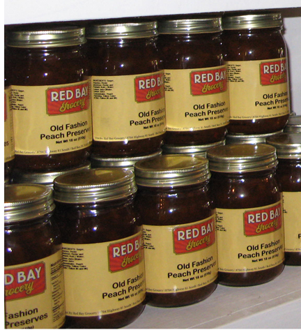 Red Bay Grocery offered many locally made preserves. Lori Ceier/Walton Outdoors