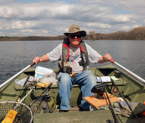 Boats are provided on several lakes and are nice big Jon boats that come with anchor, life preserver, and a creel kit that includes a first aid kit. Photo courtesy J.B. Hillard
