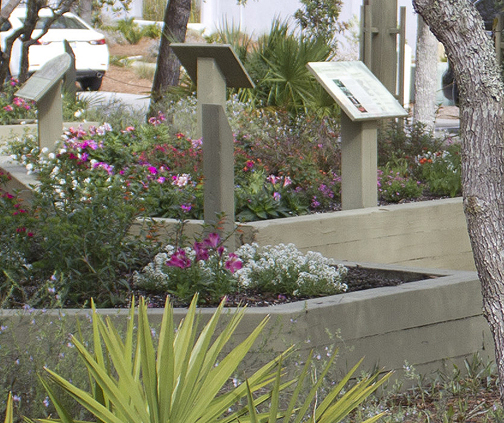 Colorful flowers and native shrubs are combined in the butterfly garden at Rosemary Beach. Lori Ceier/Walton Outdoors