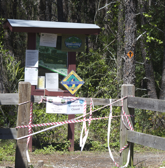 The Satinwood trail is temporarily closed to recreation. Lori Ceier/Walton Outdoors