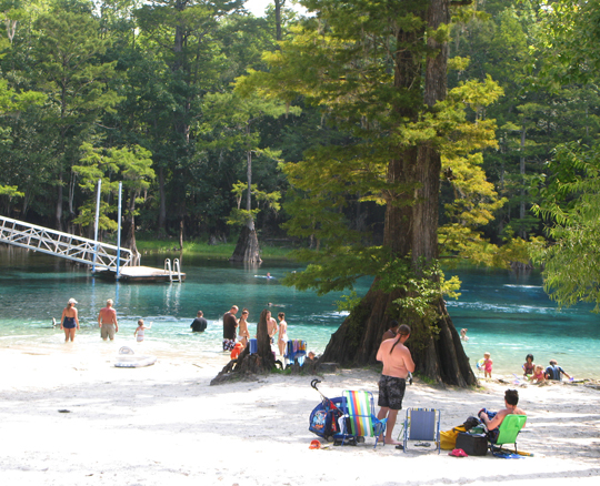 Morrison Springs can be accessed by vehicle or boat and is a popular swimming destination. Lori Ceier/Walton Outdoors