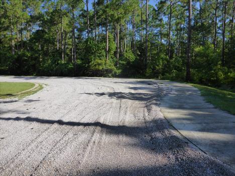 Heavily graveled parking lot on Nursery Road. Lori Ceier/Walton Outdoors
