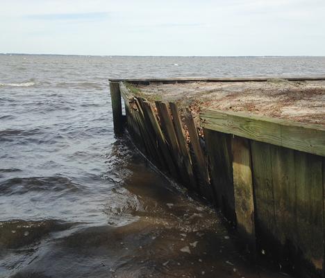 Seawall at launch area in disrepair. Lori Ceier/Walton Outdoors