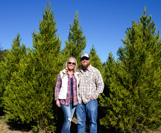 Linda and Cody Strickland welcome you to their Christmas Tree Farm in DeFuniak Springs.